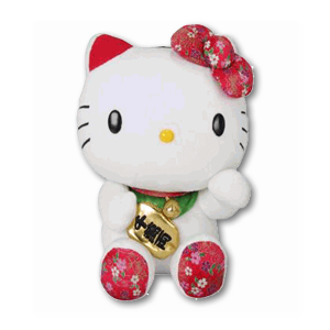 Hello Kitty Fortune Cat Plush Toy