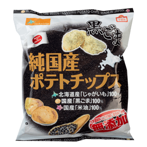 Northcolors Japan Black Sesame Seeds - Covered Potato Chips 50g