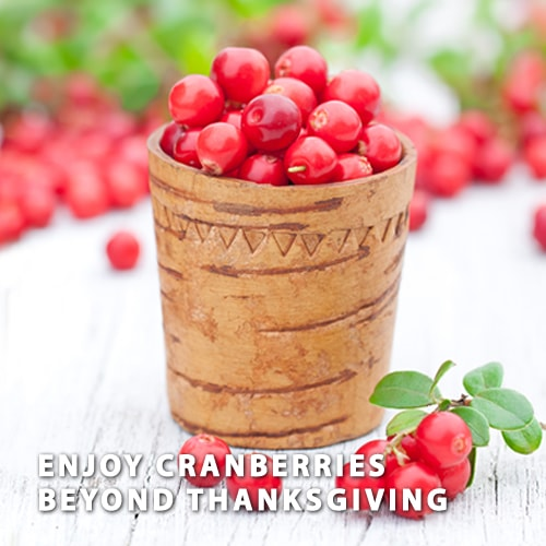 ENJOY CRANBERRIES BEYOND THANKSGIVING