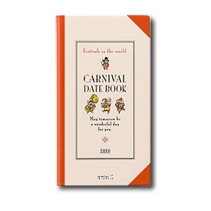 MIDORI Carnival Monthly Slim Schedule Book
