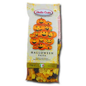 Dalla Costa Halloween Pasta with Carrot and Cuttlefish Ink 250g