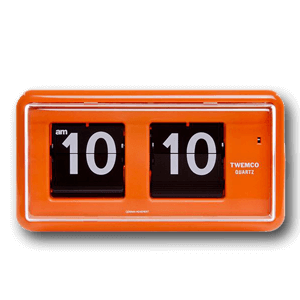 TWEMCO Flip Clock (Orange)