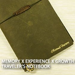 Memory X Experience X Growth TRAVELER'S notebook