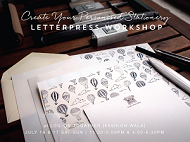 Love United: Letterpress Workshop – Create your personalised stationery set (26/3 4PM-6:30PM)