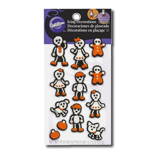 Wilton Icing Decorations - Skeleton Family 21g